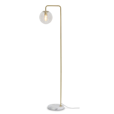 Luminaire - Lampadaires - Lampadaire Warsaw / Verre & métal - It's about Romi - Laiton / Marbre blanc - Fer, Marbre, Verre