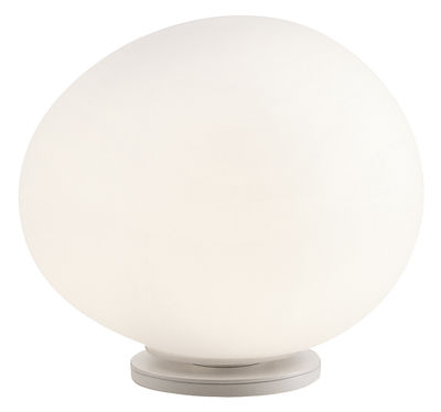 Luminaire - Lampes de table - Lampe de table Gregg Media / Verre - L 31 cm - Foscarini - L 31 cm / Blanc - Métal verni, Verre soufflé