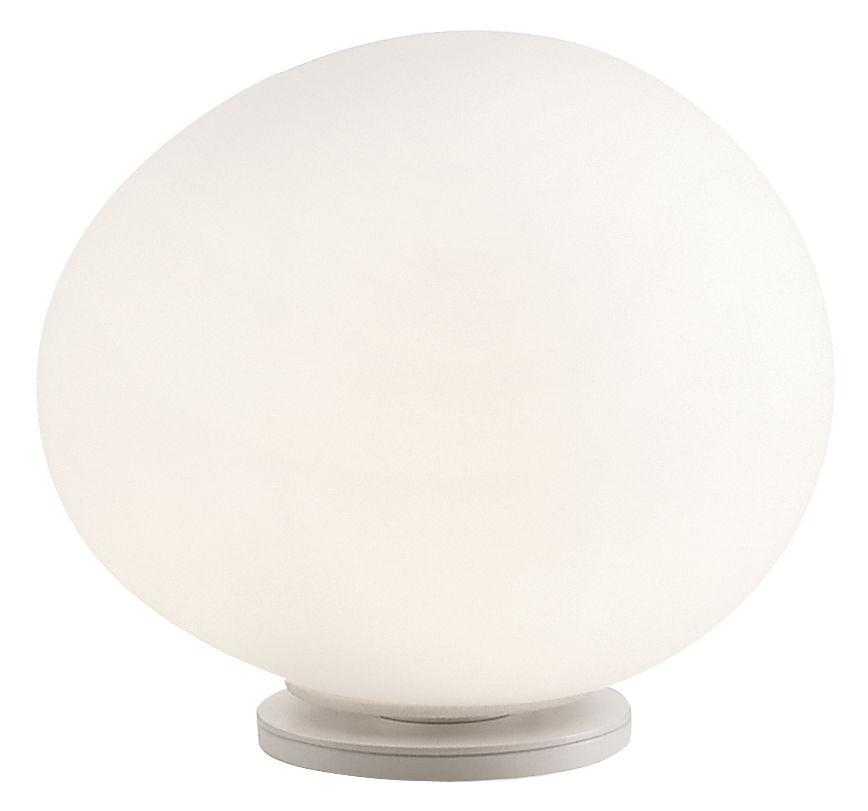 Luminaire - Lampes de table - Lampe de table Gregg Media / Verre - Foscarini - L 31 cm / Blanc - Métal verni, Verre soufflé