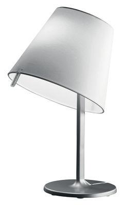 Luminaire - Lampes de table - Lampe de table Melampo Notte / H 42 cm - Artemide - Gris - aluminium - Métal, Satin