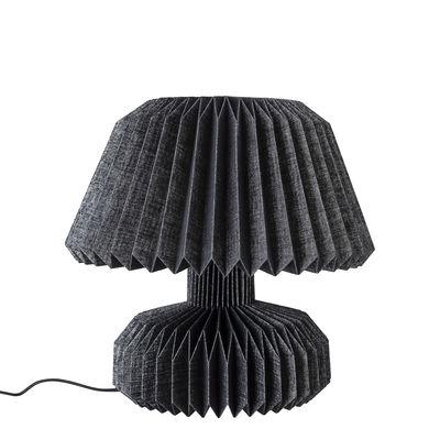 Lampe de table / Papier plissé - Bloomingville noir en tissu