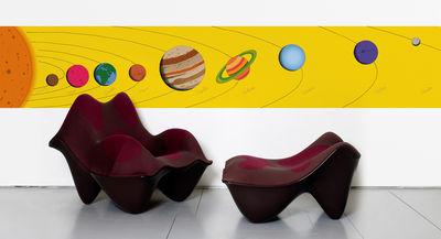 Déco - Stickers, papiers peints & posters - Papier peint Sistema Solar / 1 lé - Domestic - Sistema Solar / Jaune - Papier intissé
