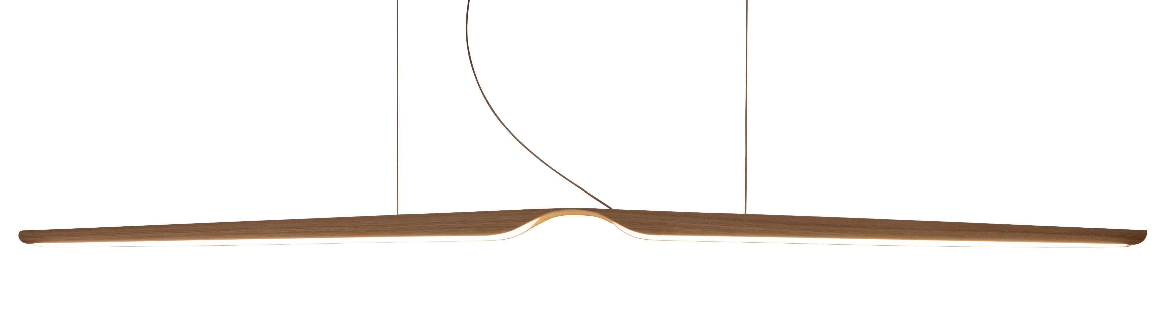 Leuchten - Pendelleuchten - Swan Pendelleuchte / L 162 cm - Tunto - Eiche - Eiche