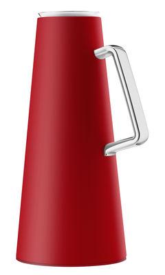 Arts de la table - Carafes et décanteurs - Pichet isotherme 1L / Avec indicateur de température - Eva Solo - Rouge - Acier, Polypropylène, Verre
