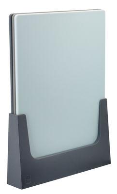 Cuisine - Ustensiles de cuisines - Planche à découper Chop-Ip / Lot de 3 + Support - Stelton - Tons gris - ABS, Plastique