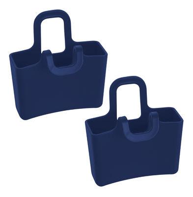 Arts de la table - Thé et café - Porte-sachet de thé Lilli / Lot de 2 mini pochettes à suspendre - Koziol - Bleu marine - Polypropylène