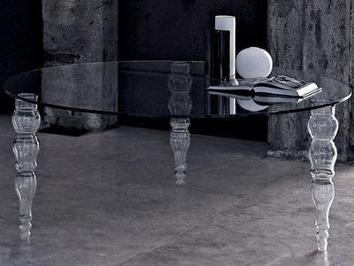 Möbel - Tische - Post Modern Runder Tisch - Glas Italia - Mit runder Tischplatte: Ø 140 cm - Glas