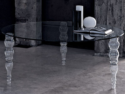 Mobilier - Tables - Table ronde Post Modern / Ø140 cm - Glas Italia - Plateau rond : Ø 140 cm - Verre