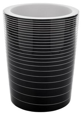 Pot de fleurs lumineux Grand Jane - Serralunga noir laqué en matière plastique