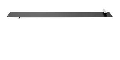 Möbel - Regale und Bücherregale - Flying Cylindre Regal / L 80 cm x H 3,8 cm - Ferm Living - Schwarz & chrom-glänzend - Chrome, epoxy-beschichtetes Metall