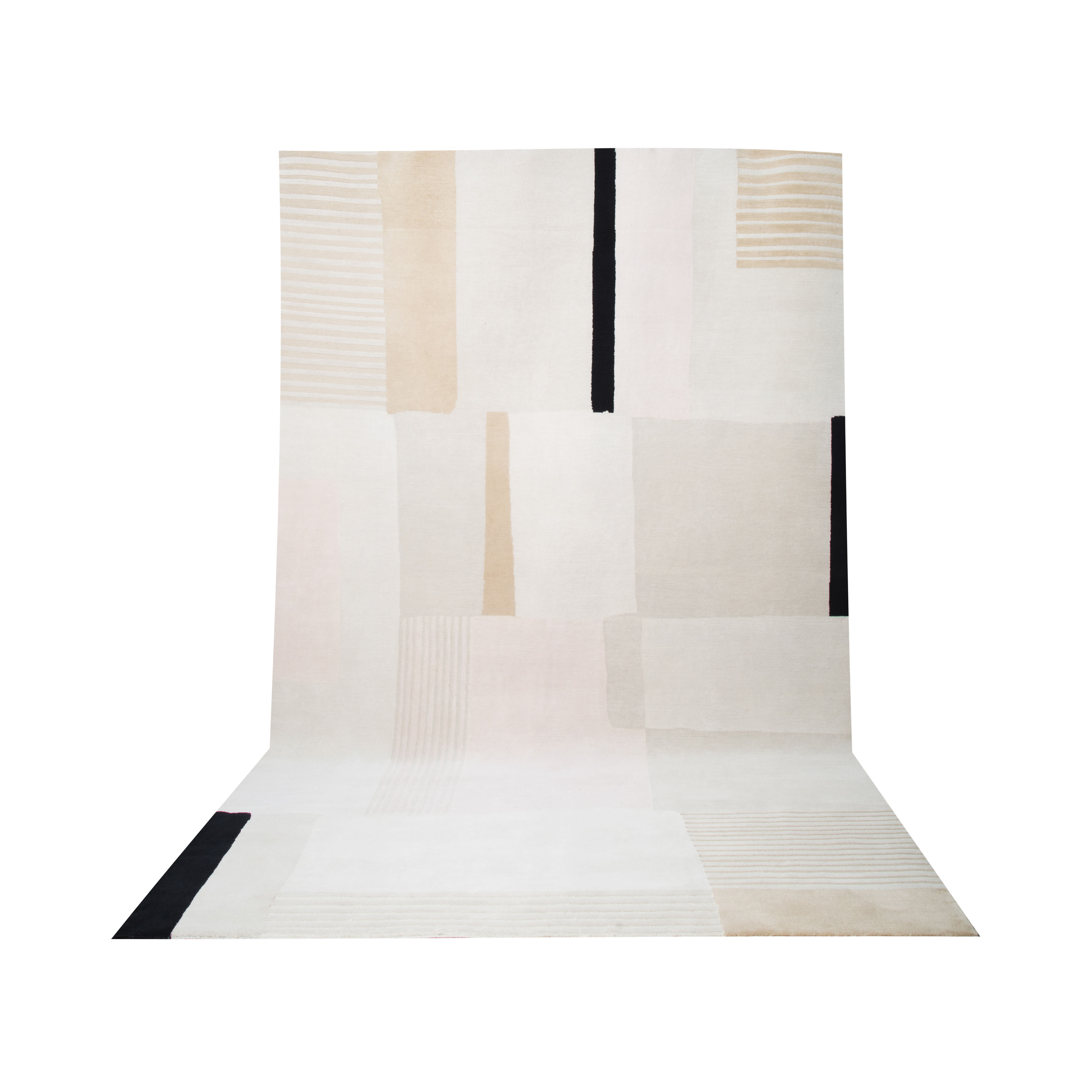 Decoration - Rugs - Boro Small Rug - / 170 x 240 cm by Maison Sarah Lavoine - Beige - Cotton, Wool