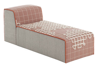 Furniture - Sofas - Bandas Sofa - L 155 cm by Gan - Pink - Wool
