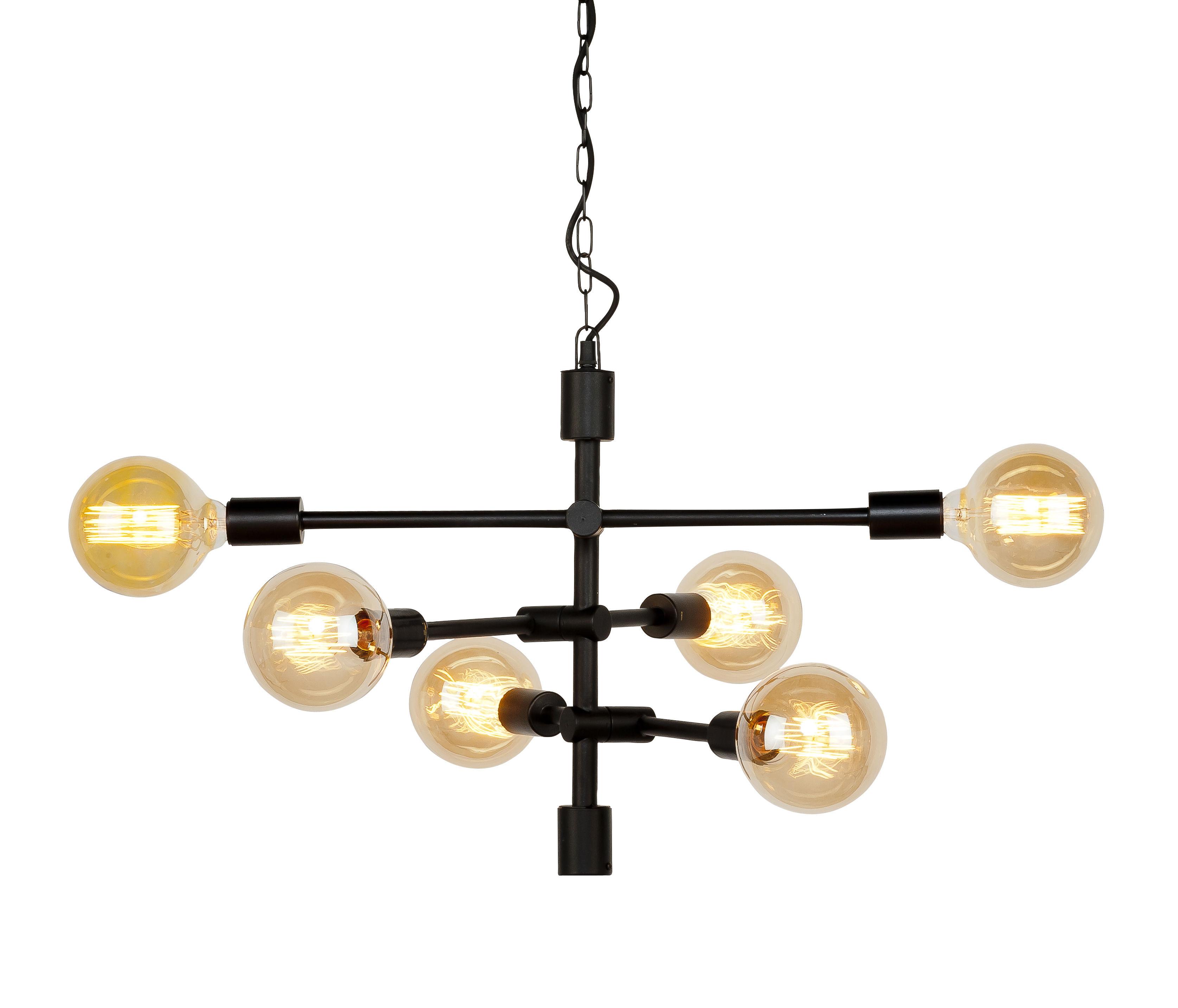 Illuminazione - Lampadari - Sospensione Nashville - / Braccio articolato - L 60 cm di It's about Romi - Nero - Ferro dipinto