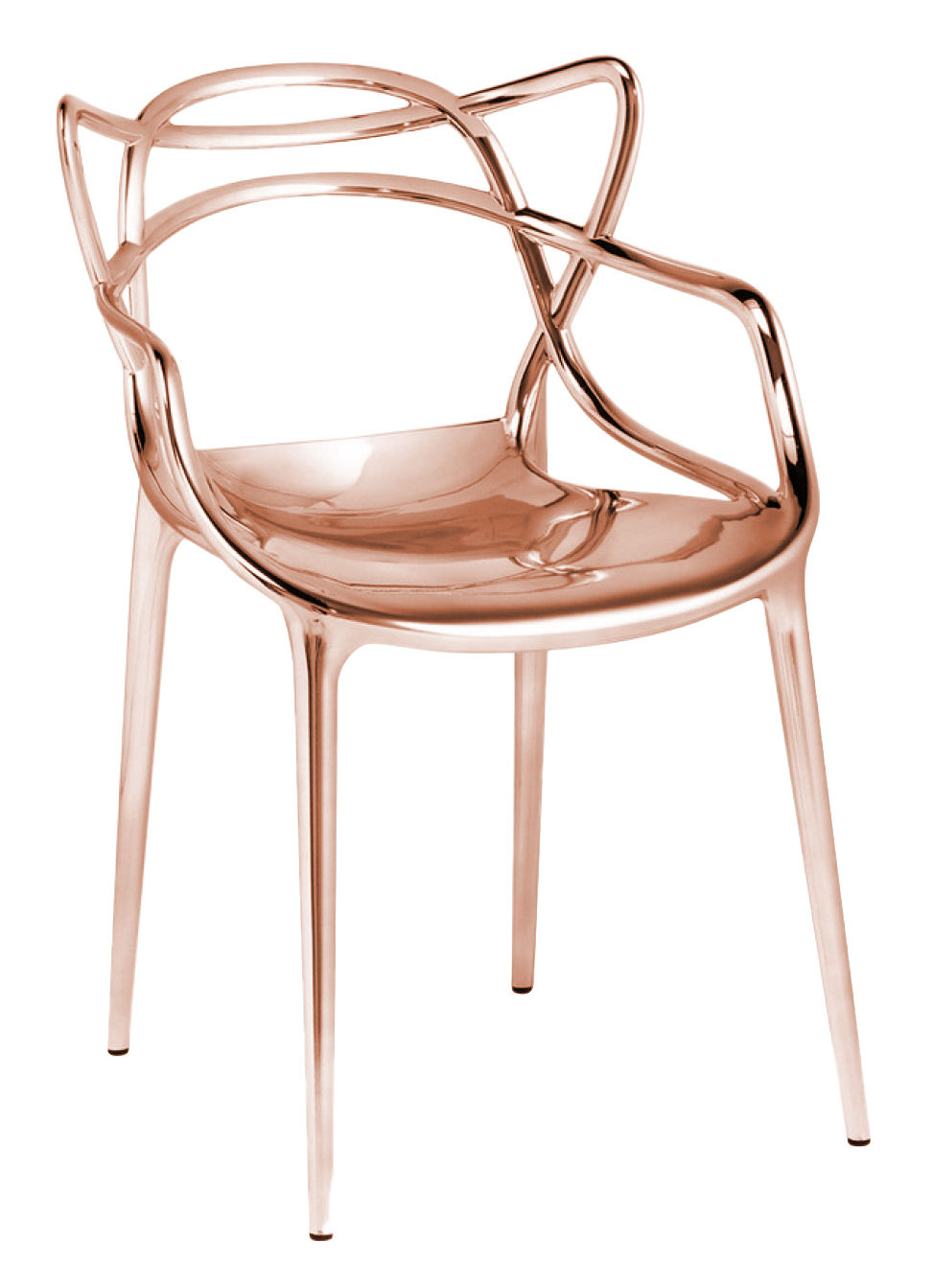 Furniture - Chairs - Masters Stackable armchair - Metallised by Kartell - Copper - Metallic ABS