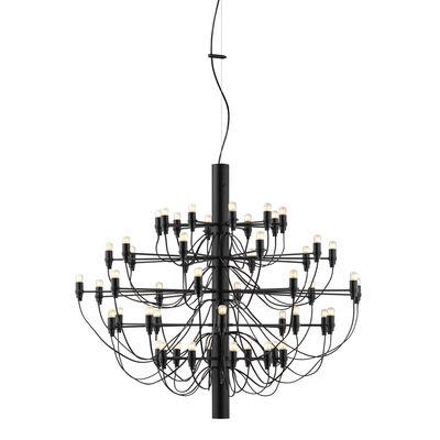Suspension 2097 / 50 ampoules dépolies INCLUSES - Ø 100 cm - Flos noir en métal