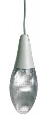 Suspension Pod lens - Luceplan gris en matière plastique