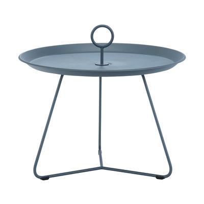 Table basse Eyelet Medium / Ø 60 x H 43,5 cm - Métal - Houe bleu en métal