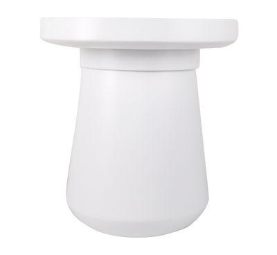 Table basse Pado / Coffre - Ø 50 x H 54 cm - Plateau amovible - XL Boom blanc en bois