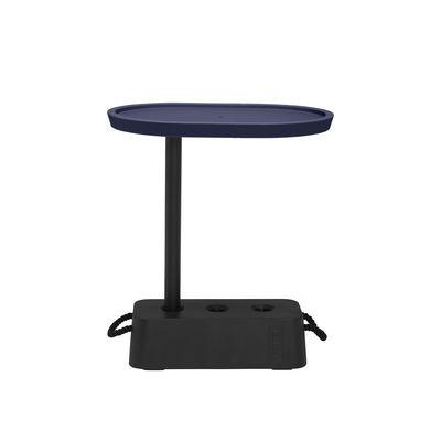 Table d'appoint Brick / 56 x 39 x H 63,5 cm - Plateau rotatif - Fatboy bleu en matière plastique