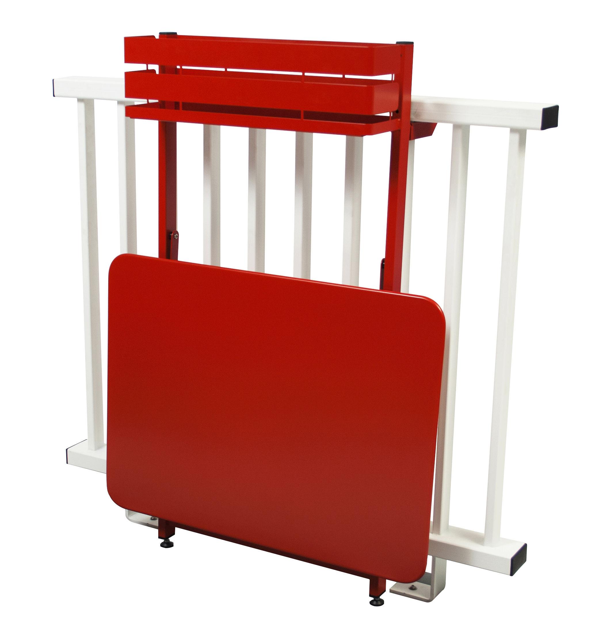 Table Pliante Balcon Bistro Rabattable 77 X 64 Cm Muscade