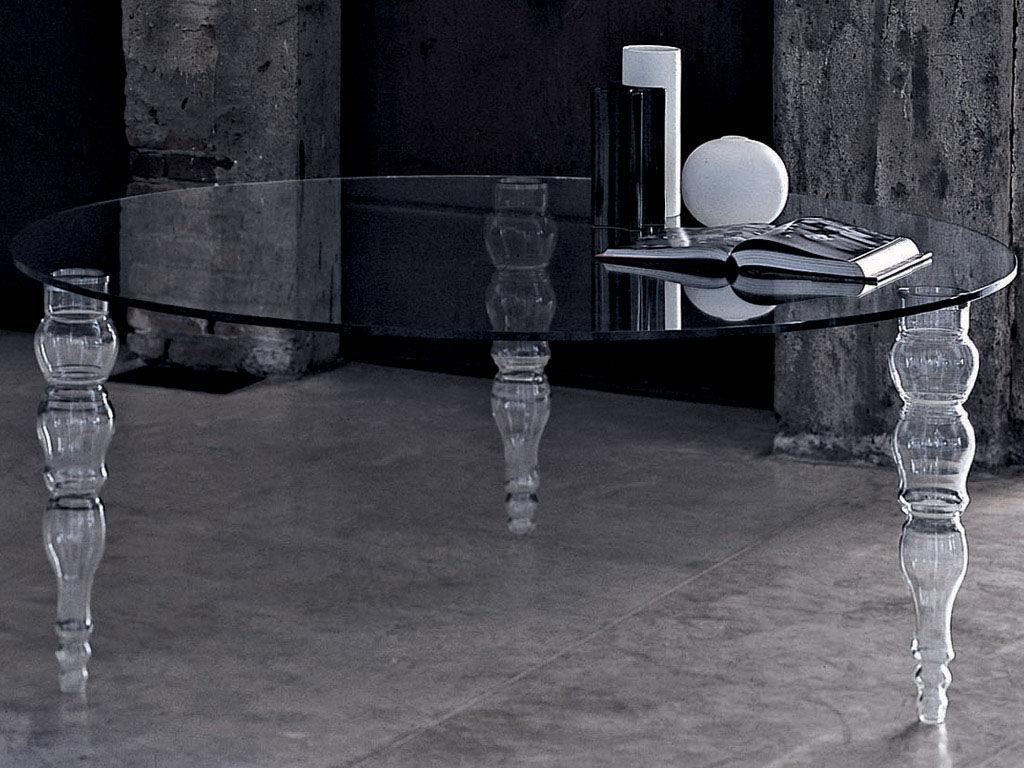 Mobilier - Tables - Table Post Modern / Ø140 cm - Glas Italia - Plateau rond : Ø 140 cm - Verre