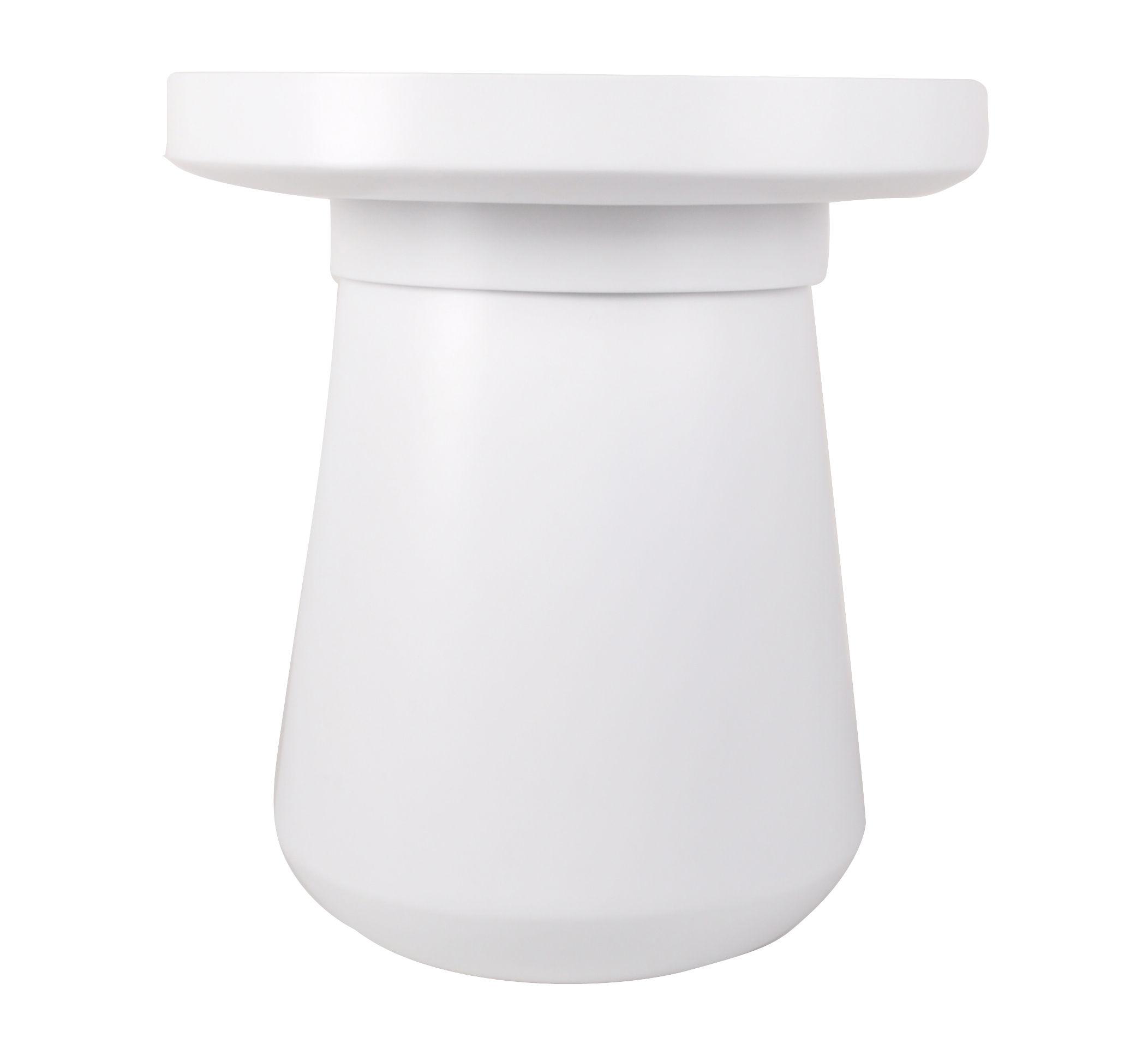 Arredamento - Tavolini  - Tavolino Pado / Contenitore - Ø 50 x H 54 cm - Piano rimovibile - XL Boom - Bianco - Bambou peint, MDF tinto