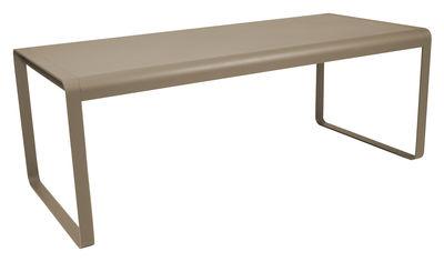 Outdoor - Tavoli  - Tavolo rettangolare Bellevie - L 196 cm - 8 a 10 persone di Fermob - Noce moscata - Acciaio, Alluminio