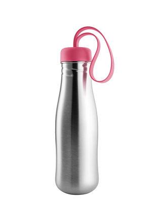 Tischkultur - Karaffen - Active Trinkflasche / 0,7 L - Edelstahl - Eva Solo - Berry red - rostfreier Stahl, Silikon