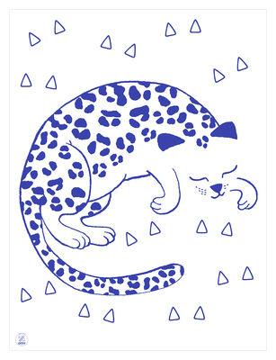 Affiche Leo / Phosphorescente - 30 x 40 cm - OMY Design & Play blanc,bleu marine en papier