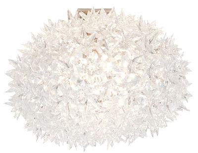 Applique Bloom / Plafonnier - Ø 53 cm - Kartell blanc en matière plastique
