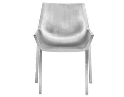 Furniture - Chairs - Sezz Chair - Aluminium by Emeco - Brushed aluminium - Aluminium recyclé finition brossé