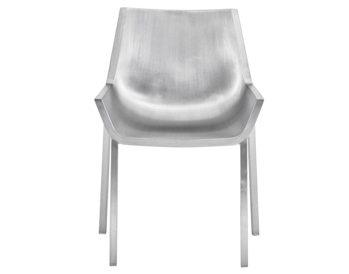 Mobilier - Chaises, fauteuils de salle à manger - Chaise Sezz / Aluminium - Emeco - Aluminium brossé - Aluminium recyclé finition brossé