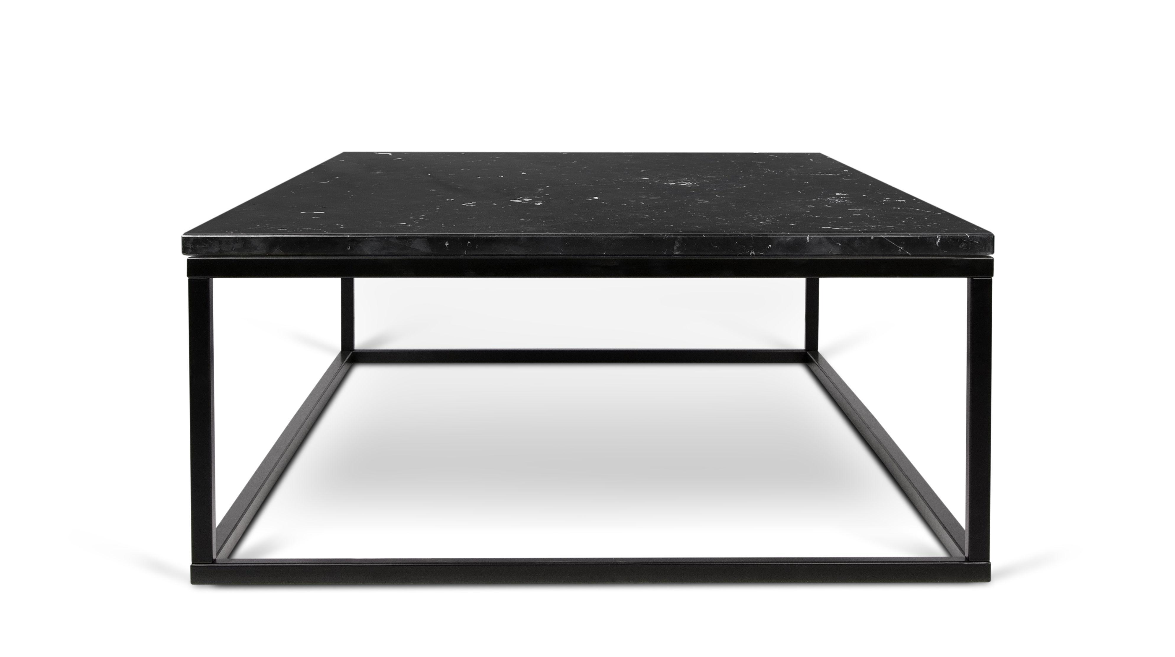 Marble couchtisch marmor 120 x 75 cm tischplatte schwarz tischgestell schwarz by pop up for Couchtisch marmor schwarz