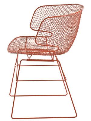 Mobilier - Chaises, fauteuils de salle à manger - Fauteuil Arkys / Métal - Eumenes - Structure orange / siège orange - Acier galvanisé verni