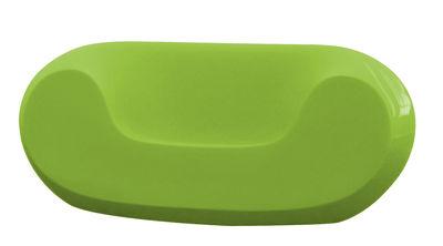 Fauteuil bas Chubby version laquée - Slide laqué vert en matière plastique