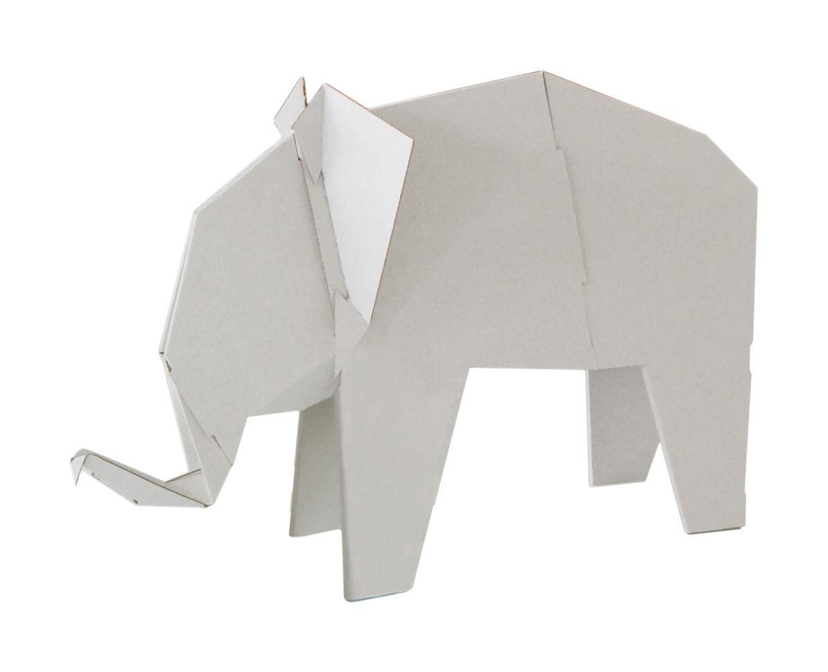 Interni - Per bambini - Figurina My Zoo Eléphant - /Elefante - Piccolo modello di Magis Collection Me Too - Bianco - Cartone