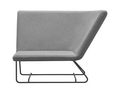 Ultrasofa Gepolsterter Sessel / L 126 cm - Fermob - Perlgrau,Karbon