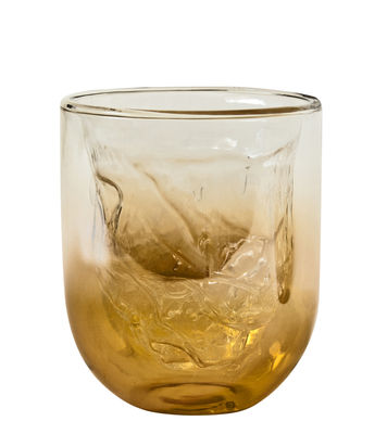 Tableware - Wine Glasses & Glassware - Meteorite Small Glass - H 10 cm - Double wall by Diesel living with Seletti - Small / Amber - Double jacketed glass