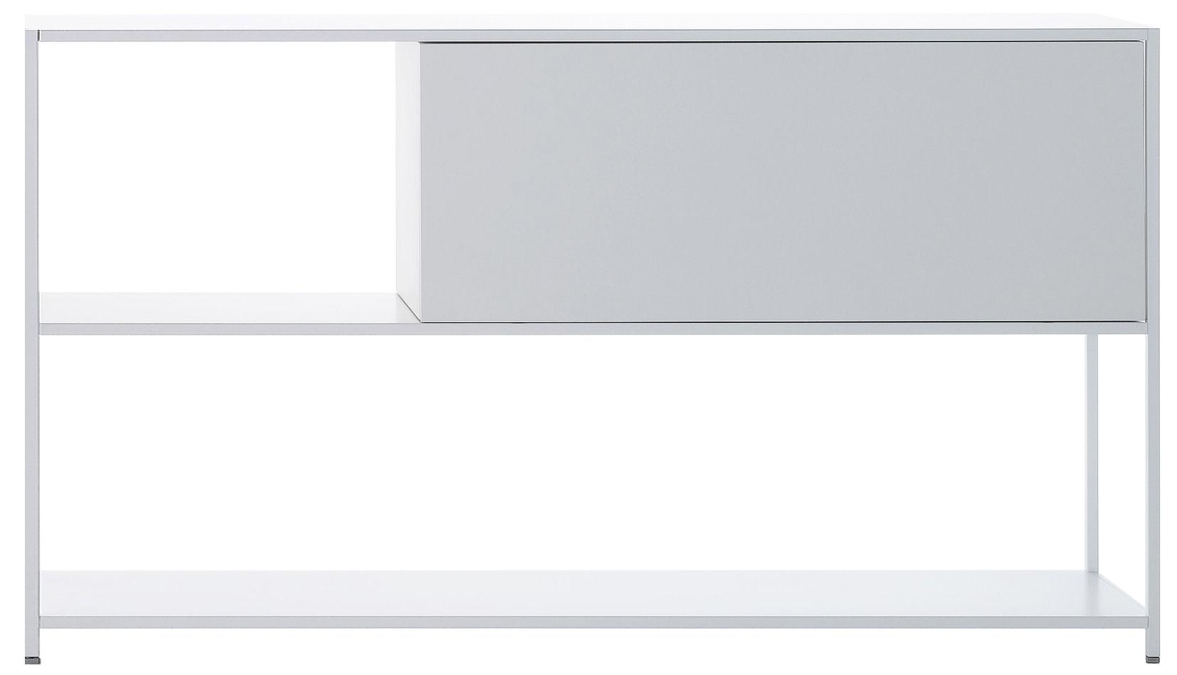 Möbel - Regale und Bücherregale - Minima Kiste / mit Klapptür (nach oben) - L 60 cm - MDF Italia - Weiß / mit Klapptür (nach oben) - Fibre de bois