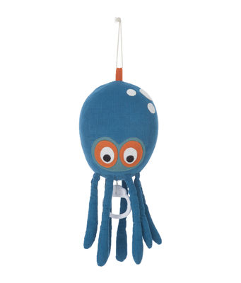 Decoration - Children's Home Accessories - Octopus Music Mobile - Music Mobile by Ferm Living - Blue - Cotton