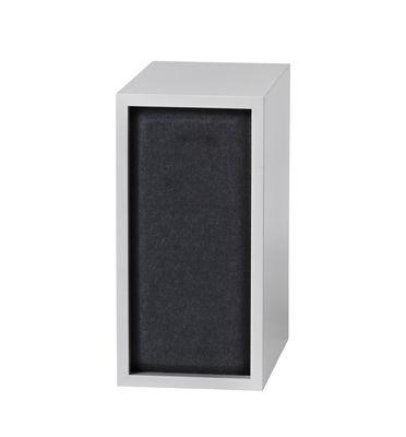 Arredamento - Scaffali e librerie - Pannello fonoassorbente / Per mensola Stacked Small - 43x21 cm - Muuto - Noir - Feutre pressé
