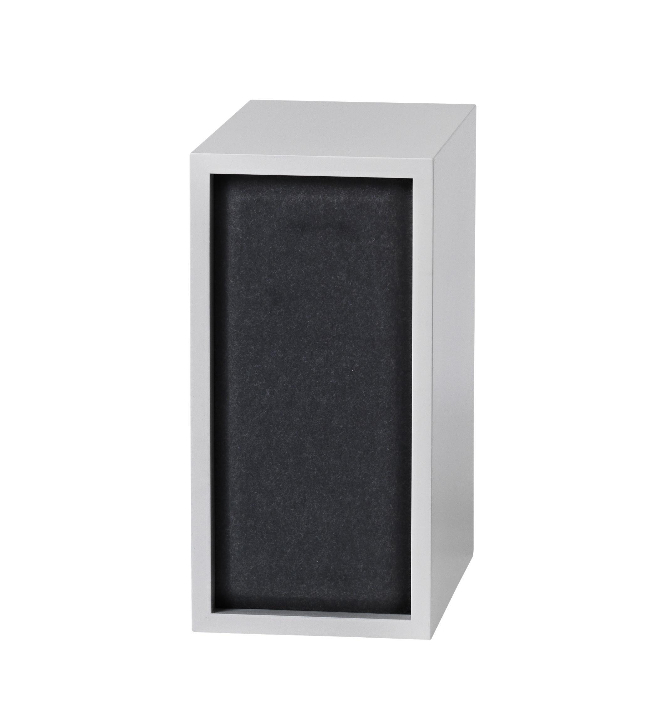 Arredamento - Scaffali e librerie - Pannello fonoassorbente / Per mensola Stacked Small - 43x21 cm - Muuto - Noir - Feltro pressato