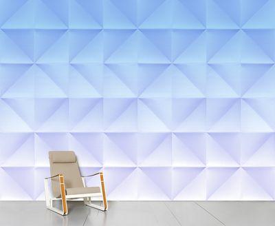 Papier peint panoramique Floating / 8 lés - L 372 cm x H 300 cm - Domestic bleu en papier