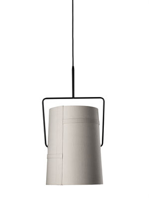 Lighting - Pendant Lighting - Fork grande Pendant by Diesel with Foscarini - Ivory - Ø 37 cm x H 70 cm - Anodized metal, Fabric