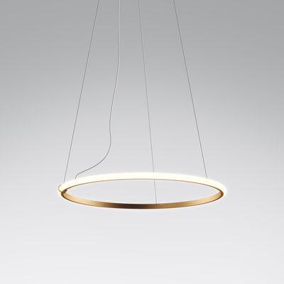Lighting - Pendant Lighting - Olympic LED Pendant - / Ø 60 cm by Fabbian - Bronze - Aluminium