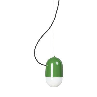 Leuchten - Pendelleuchten - Pleins Phares Pendelleuchte Klein - H 13 cm - Forestier - Grün - lackiertes Metall