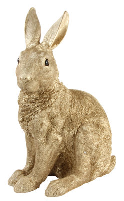 Decoration - Children's Home Accessories - Piggy bank - Rabbit - H 35 cm by & klevering - Gold - Polyresin