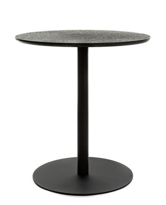 Furniture - Dining Tables - Terrazzo Round table - / Ø 70 cm by XL Boom - Black Terrazzo / Black - Terrazzo