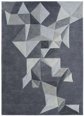 Decoration - Rugs - Pliages Rug by Toulemonde Bochart - Grey - Wool