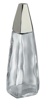 Egg Cups - Salt & Pepper Mills - / H 13,7 cm Salt shaker by Alessi - Transparent / Steel - Glass, Stainless steel